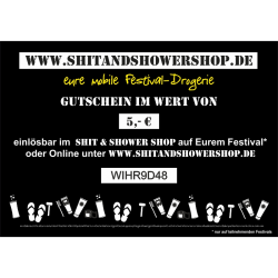 Shit & Shower Gutschein 5,- €