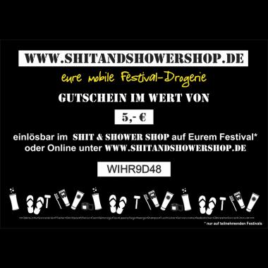Shit & Shower Gutschein 5,- €