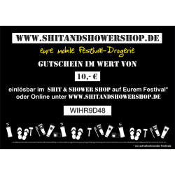 Shit & Shower Gutschein 10,- €