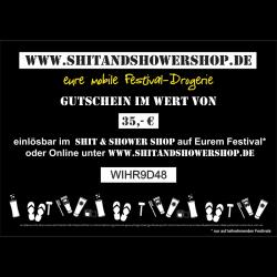 Shit & Shower Shop Gutschein 35,- €