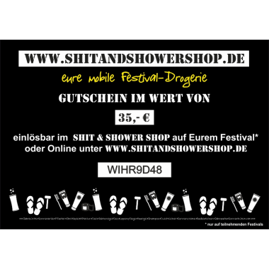 Shit & Shower Shop Gutschein 35,- €