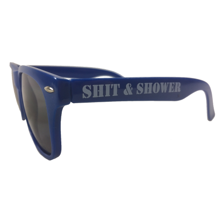Shit & Shower Sonnenbrille blau